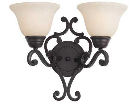 Maxim Lighting Manor Oil Rubbed Bronze Two-Light Wall Sconce MX12212FIOI