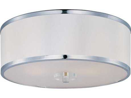 Maxim Lighting Metro Polished Chrome Three-Light 16'' Wide Flush Mount Light MX39821BCWTPC
