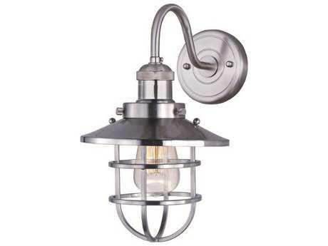 Maxim Lighting Mini Hi-Bay Satin Nickel Wall Sconce MX25090SNBUI