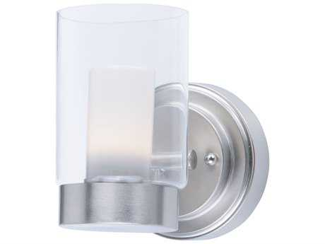 Maxim Lighting Mod Satin Nickel with Clear & Frosted Glass LED Wall Sconce