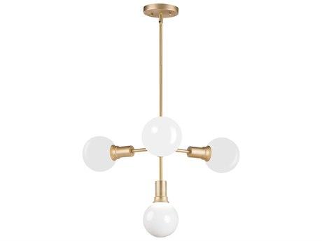 Maxim Lighting Molecule Satin Brass Four-Light 24'' Wide  Pendant Light