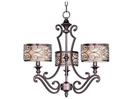 Maxim Lighting Mondrian Umber Bronze Three-Light 24.5 Wide Chandelier MX21153WHUB