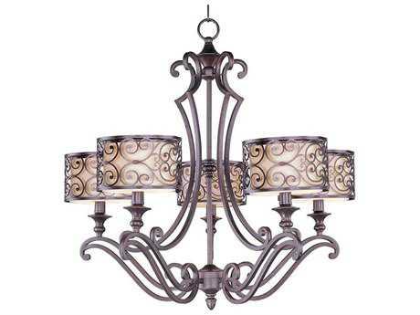 Maxim Lighting Mondrian Umber Bronze Five-Light 28 Wide Chandelier MX21155WHUB