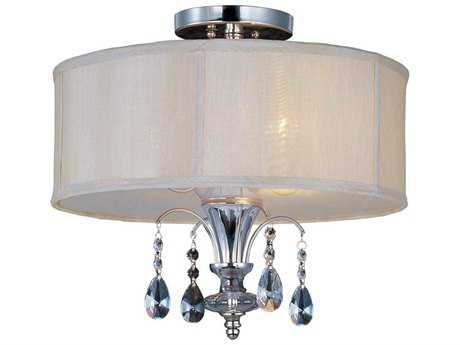 Maxim Lighting Montgomery Polished Nickel & Clear Glass Three-Light 16.5'' Wide Semi-Flush Mount Light MX24301CLBSPN