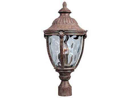 Maxim Lighting Morrow Bay DC Earth Tone & Water Glass Three-Light 10.5'' Wide Incandescent Outdoor Post Light MX3181WGET