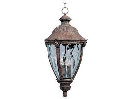 Maxim Lighting Morrow Bay VX Earth Tone & Water Glass Three-Light 10.5'' Wide Incandescent Outdoor Hanging Light
