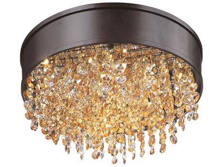 Maxim Lighting Mystic Bronze 16'' Wide Flush Mount Light MX39650SHBZ
