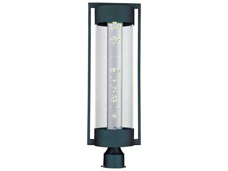 Maxim Lighting New Age Texture Ebony & Clear Glass 8'' Wide LED Outdoor Post Light MX88350CLTE