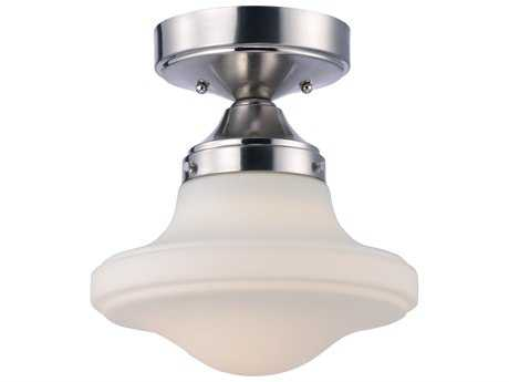 Maxim Lighting New School Satin Nickel 11'' Wide LED Semi Flush Mount Light MX30240SWSN