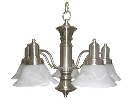 Maxim Lighting Newburg Satin Nickel Five-Light 24.75 Wide Mini-Chandelier