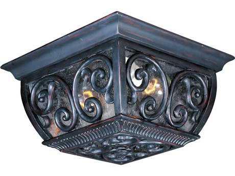 Maxim Lighting Newbury VX Oriental Bronze Two-Light Outdoor Ceiling Light MX40129CDOB