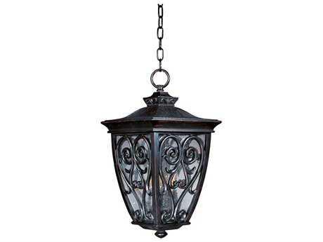 Maxim Lighting Newbury VX Oriental Bronze Three-Light Outdoor Hanging Light