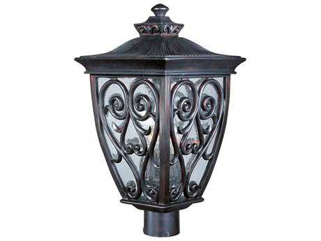Maxim Lighting Newbury VX Oriental Bronze Three-Light Outdoor Post Light MX40120CDOB
