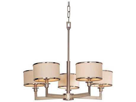 Maxim Lighting Nexus Satin Nickel Five-Light 27.75 Wide Chandelier
