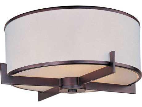 Maxim Lighting Nexus Oil Rubbed Bronze Three-Light 17.5'' Wide Flush Mount Light MX12050WTOI