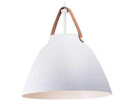 Maxim Lighting Nordic Tan Leather / White 19'' Wide Pendant