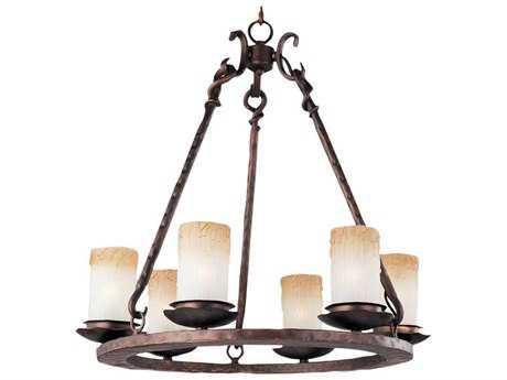 Maxim Lighting Notre Dame Oil Rubbed Bronze Six-Light 24 Wide Chandelier MX10975WSOI