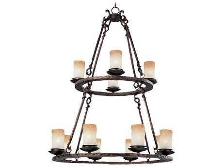 Maxim Lighting Notre Dame Oil Rubbed Bronze 12-Light 32 Wide Chandelier MX10977WSOI