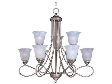 Maxim Lighting Nova Satin Nickel Nine-Light 30.5 Wide Chandelier