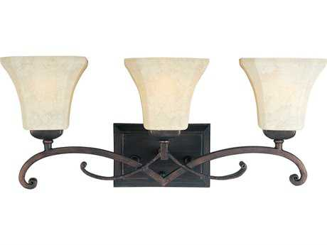 Maxim Lighting Oak Harbor Rustic Burnished Three-Light Vanity Light MX21073FLRB