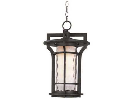 Maxim Lighting Oakville Black Oxide & Water Glass 12'' Wide Incandescent Outdoor Hanging Light MX30488WGBO