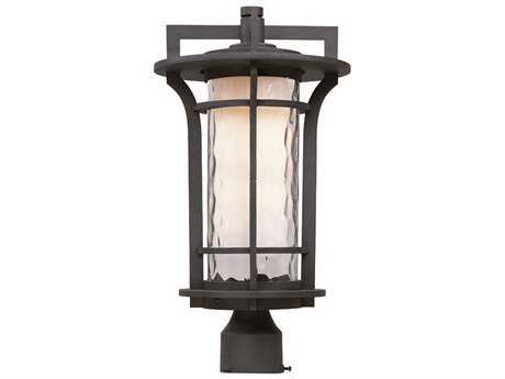 Maxim Lighting Oakville Black Oxide & Water Glass 10'' Wide Incandescent Outdoor Post Light MX30480WGBO