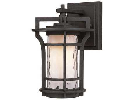 Maxim Lighting Oakville Black Oxide & Water Glass 6'' Wide Incandescent Outdoor Wall Light MX30482WGBO