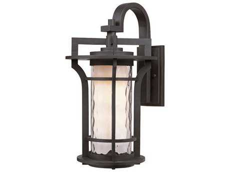 Maxim Lighting Oakville Black Oxide & Water Glass 8'' Wide Incandescent Outdoor Wall Light MX30484WGBO