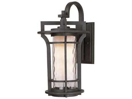 Maxim Lighting Oakville Black Oxide & Water Glass 10'' Wide Incandescent Outdoor Wall Light MX30485WGBO