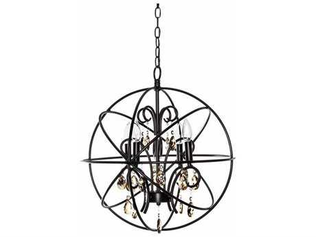 Maxim Lighting Orbit Oil Rubbed Bronze Four-Light 19 Wide Chandelier MX25142OI