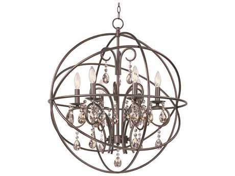 Maxim Lighting Orbit Oil Rubbed Bronze Six-Light 25 Wide Chandelier MX25144OI
