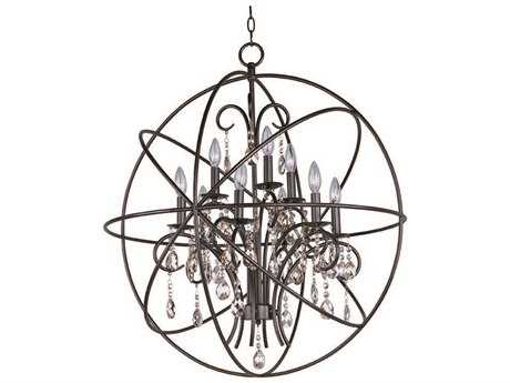 Maxim Lighting Orbit Oil Rubbed Bronze Nine-Light 30 Wide Chandelier MX25145OI
