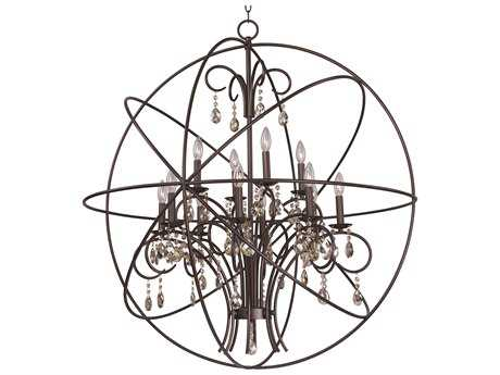 Maxim Lighting Orbit Oil Rubbed Bronze 12-Light 40'' Wide Grand Chandelier MX25147OI