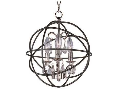 Maxim Lighting Orbit Anthracite & Polished Nickel Three-Light 12 Wide Mini-Chandelier MX25140ARPN