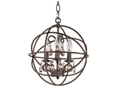 Maxim Lighting Orbit Oil Rubbed Bronze Three-Light 12 Wide Mini-Chandelier MX25140OI
