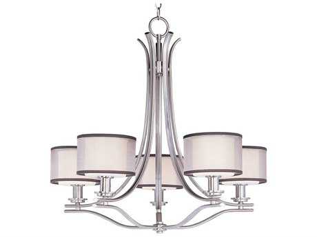 Maxim Lighting Orion Satin Nickel Five-Light 29 Wide Chandelier MX23035SWSN
