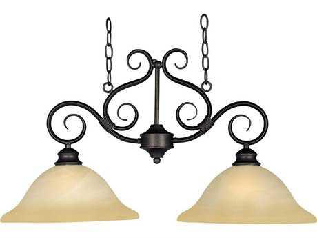 Maxim Lighting Pacific Kentucky Bronze & Wilshire Glass Two-Light 30'' Long Island Light MX2651WSKB