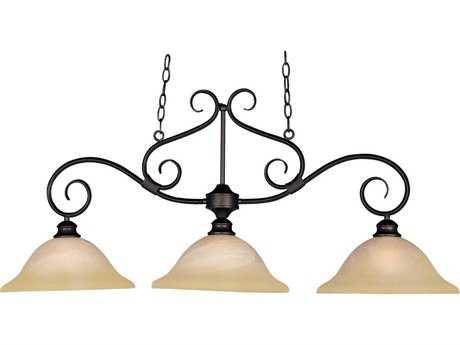 Maxim Lighting Pacific Kentucky Bronze & Wilshire Glass Three-Light 44'' Long Island Light MX2653WSKB