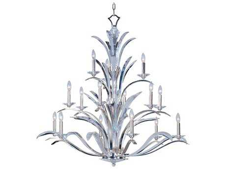Maxim Lighting Paradise Plated Silver 15-Light 46 Wide Grand Chandelier MX39947BCPS