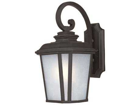 Maxim Lighting Radcliffe Black Oxide & Weathered Frost Glass 9'' Wide LED Outdoor Wall Light MX55644WFBO