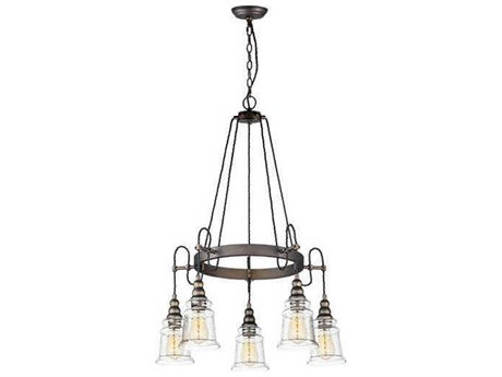Maxim Lighting Revival Oil Rubbed Bronze 26'' Wide Glass Medium Chandelier MX21575HMOI