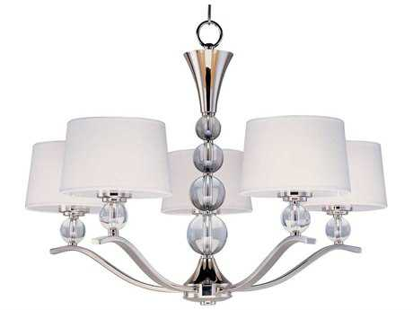 Maxim Lighting Rondo Polished Nickel Five-Light 31 Wide Chandelier MX12755WTPN