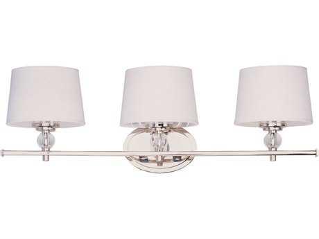 Maxim Lighting Rondo Polished Nickel Three-Light Vanity Light MX12763WTPN