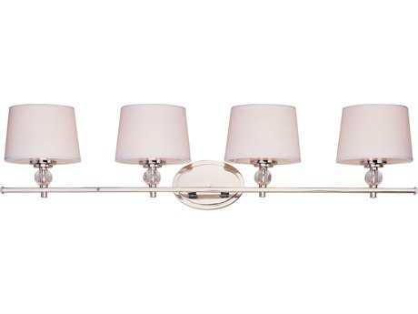 Maxim Lighting Rondo Polished Nickel Four-Light Vanity Light MX12764WTPN