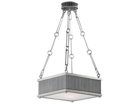 Maxim Lighting Ruffle Weathered Zinc / Satin Nickel Three-Light 13'' Wide  Pendant Light