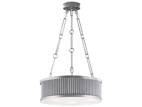 Maxim Lighting Ruffle Weathered Zinc / Satin Nickel Four-Light 18'' Wide  Pendant Light