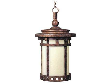 Maxim Lighting Santa Barbara Sienna & Mocha Glass 9'' Wide LED Outdoor Hanging Light MX55038MOSE
