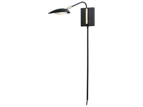 Maxim Lighting Scan Black / Satin Brass LED Vanity Light MX21691BKSBR