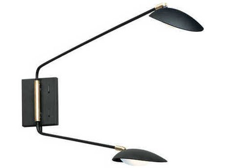 Maxim Lighting Scan Black / Satin Brass LED Vanity Light MX21692BKSBR