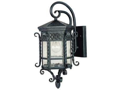 Maxim Lighting Scottsdale Country Forge & Seedy Glass 9.5'' Wide Incandescent Outdoor Wall Light MX30123CDCF